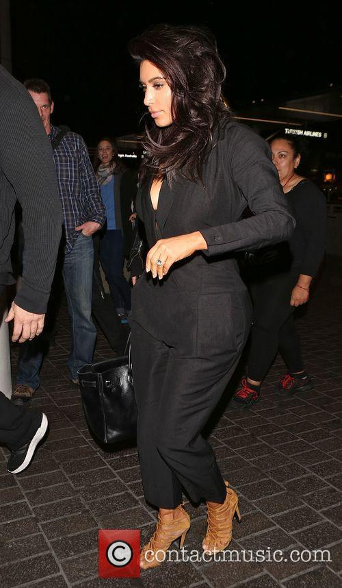 Kim Kardashian Depart from LAX