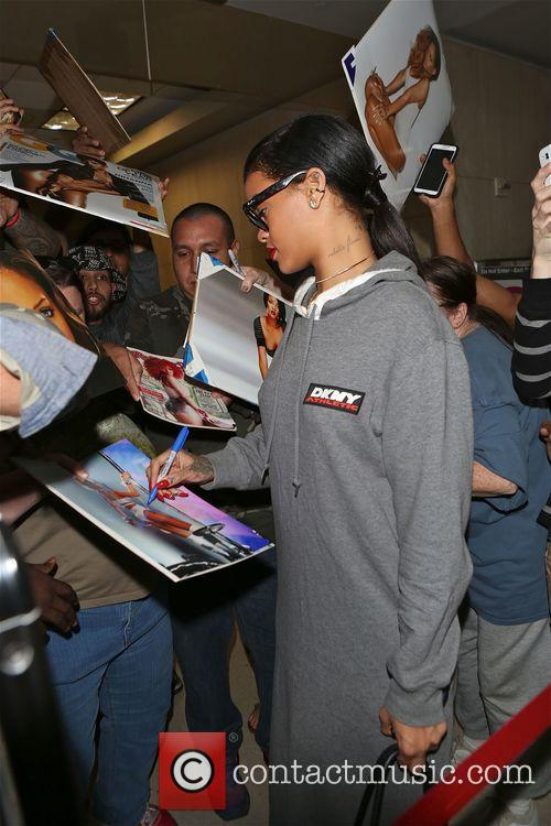 Rhianna arrives at LAX airport