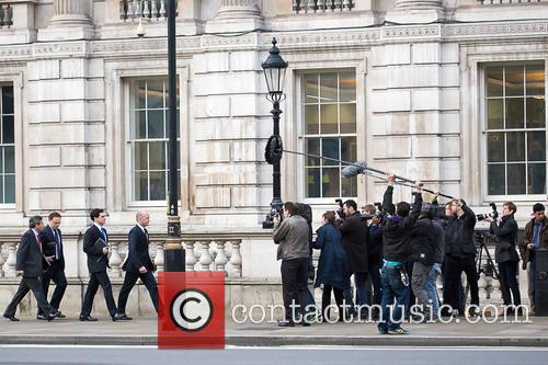 'Coalition' filming in Whitehall