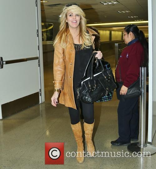 Dina Lohan arriving at Los Angeles International Airport