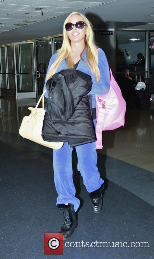 Mary Carey arriving at Los Angeles International Airport