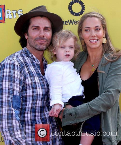 Greg Lauren, Sky Cole Lauren and Elizabeth Berkley 2