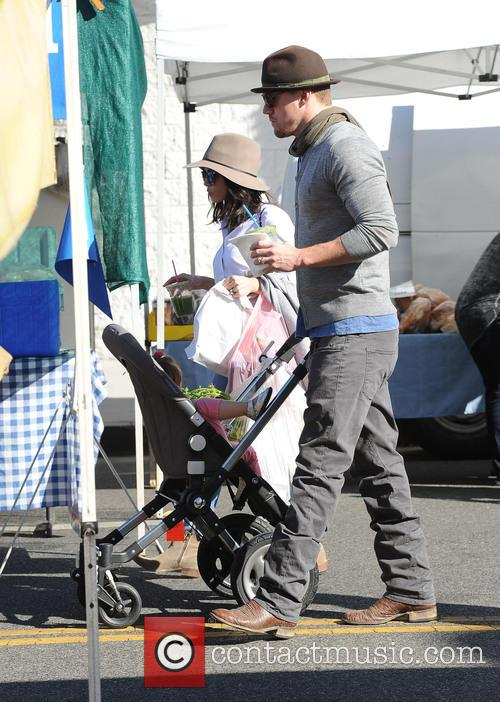 Channing Tatum and family at the Farmers Market