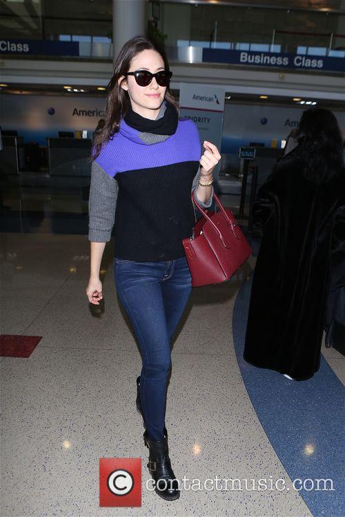 Emmy Rossum leaving Los Angeles International Airport