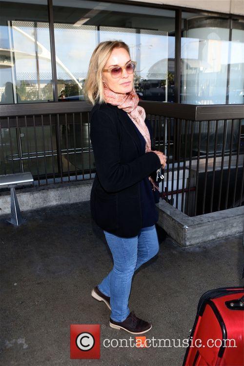 Jessica Lange arrives at Los Angeles International Airport