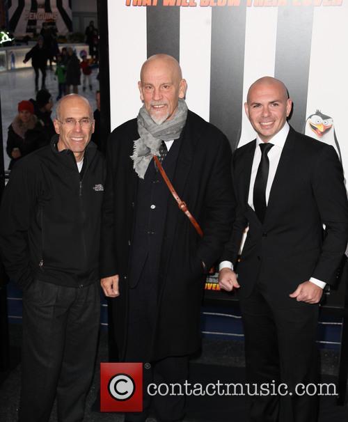 Ceo Jeffrey Katzenberg, John Malkovich and Pit Bull 1