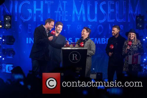 Jamie Theakston, Emma Bunton, Take That, Gary Barlow, Howard Donald and Mark Owen 3