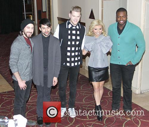 Avi Kaplan, Kirstie Maldonado, Scott Hoying, Mitch Grass, Kevin Olusola and Pentatonix 2