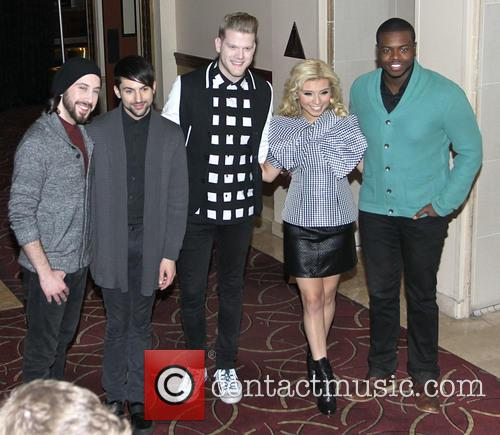 Avi Kaplan, Kirstie Maldonado, Scott Hoying, Mitch Grass, Kevin Olusola and Pentatonix 3