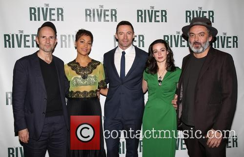 Ian Rickson, Cush Jumbo, Hugh Jackman, Laura Donnelly and Jez Butterworth 1