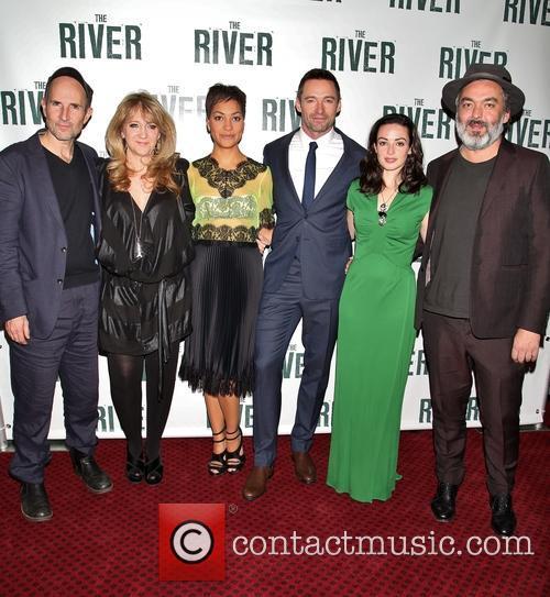 Ian Rickson, Sonia Friedman, Cush Jumbo, Hugh Jackman, Laura Donnelly and Jez Butterworth 3