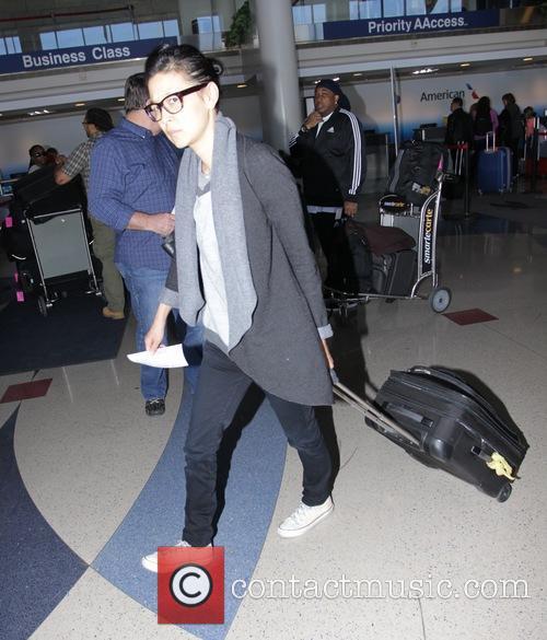 Su-chin Pak departs Los Angeles International Airport