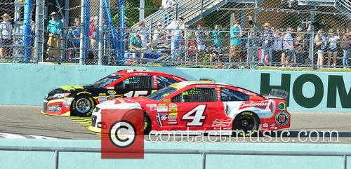 Clint Bowyer, Driver Of The #15 5-hour Energy Toyota, Kevin Harvick and Driver Of The #4 Budweiser Chevrolet 2