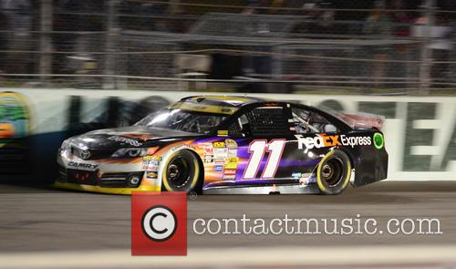 Denny Hamlin and Driver Of The #11 Fedex Express Toyota 4