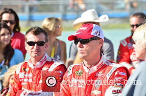 Kevin Harvick and Driver Of The #4 Budweiser Chevrolet 2