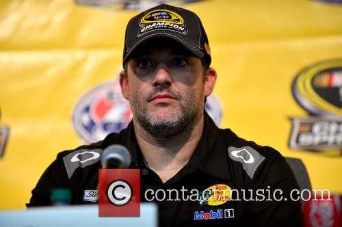 Tony Stewart and Driver Of The #14 Bass Pro Shops / Mobil 1 Chevrolet 2
