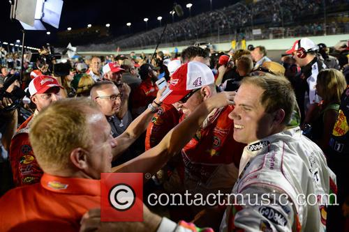 Crew Members For Kevin Harvick and Driver Of The #4 Budweiser Chevrolet 2