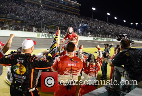 Kevin Harvick and Driver Of The #4 Budweiser Chevrolet 10