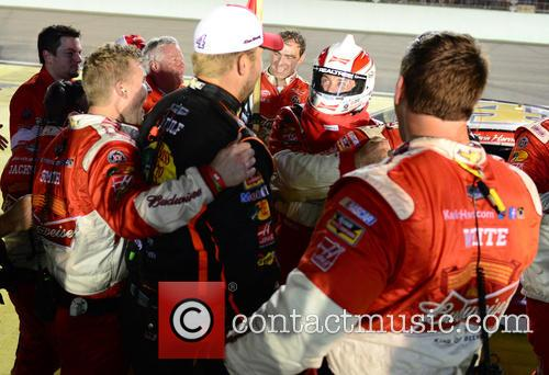 Kevin Harvick and Driver Of The #4 Budweiser Chevrolet 11