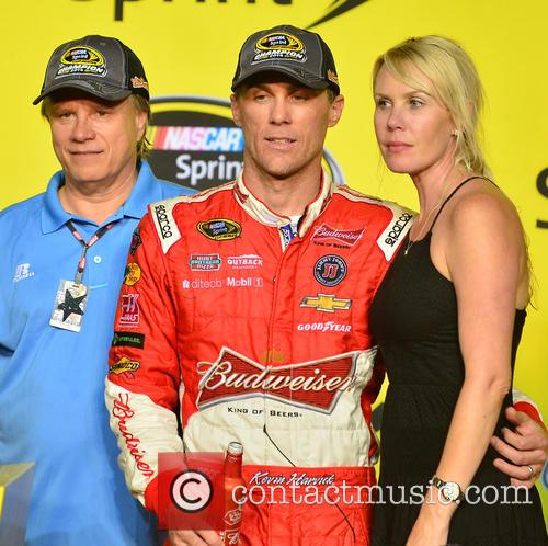 Kevin Harvick, Driver Of The #4 Budweiser Chevrolet and Delana Harvick 7
