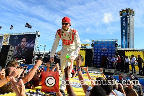 Dale Earnhardt Jr. and Driver Of The #88 National Guard Chevrolet 1
