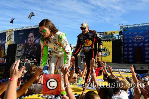 Danica Patrick, Driver Of The #10 Florida Lottery/godaddy Chevrolet, Tony Stewart and Driver Of The #14 Bass Pro Shops / Mobil 1 Chevrolet 4