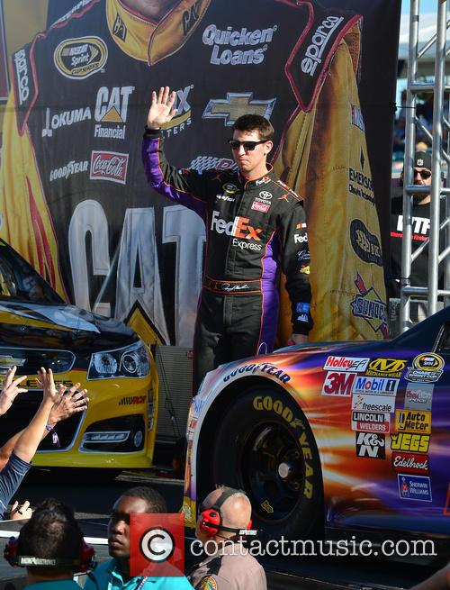 Denny Hamlin and Driver Of The #11 Fedex Express Toyota 2