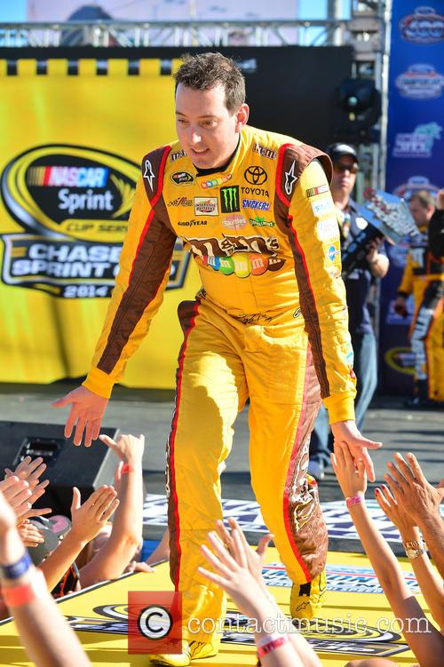 Kyle Busch and Driver Of The #18 M&m's Toyota 2