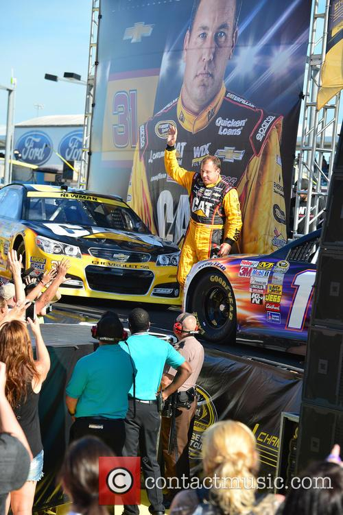 Ryan Newman and Driver Of The #31 Caterpillar Chevrolet 2