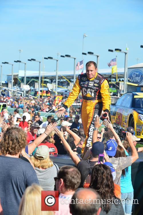 Ryan Newman and Driver Of The #31 Caterpillar Chevrolet 3