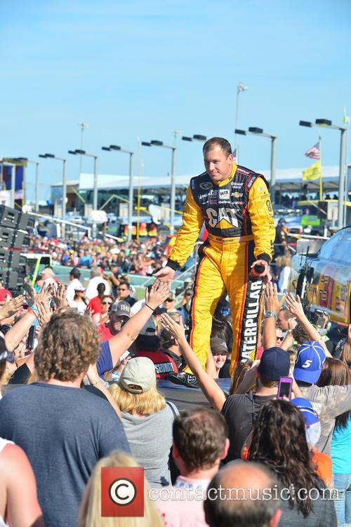 Ryan Newman and Driver Of The #31 Caterpillar Chevrolet 4
