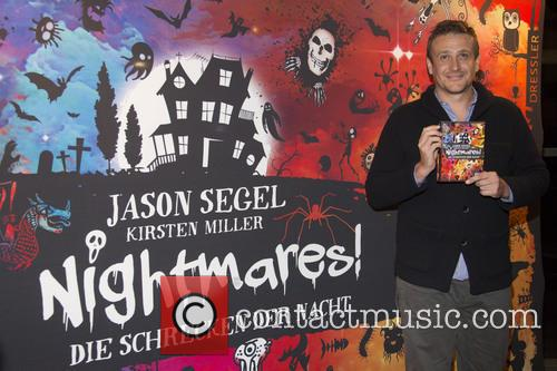 Jason Segel promoting his latest book 'Nightmares!'