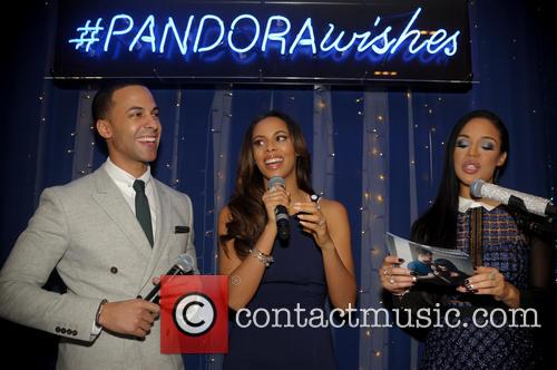 Marvin Humes, Rochelle Humes and Sarah Jane Crawford 9