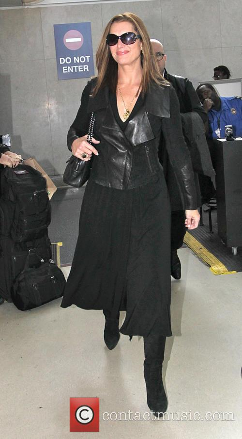 Brooke Shields arrives at Los Angeles International Airport
