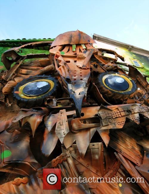 Giant Owl Street Art 3