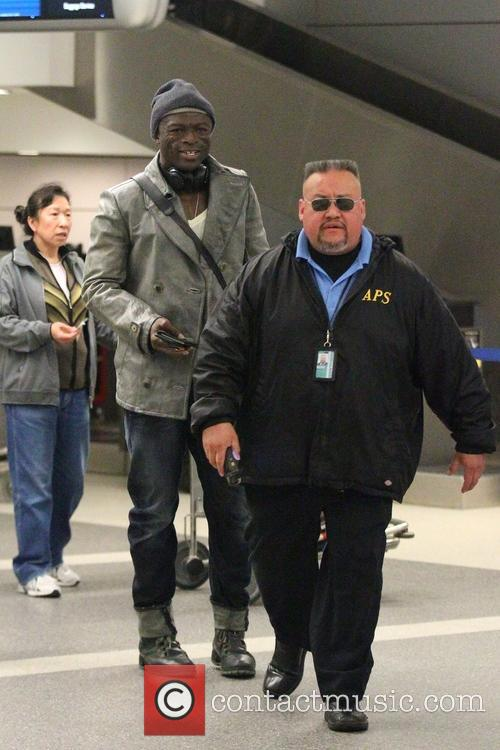 Seal arrives at Los Angeles International Airport