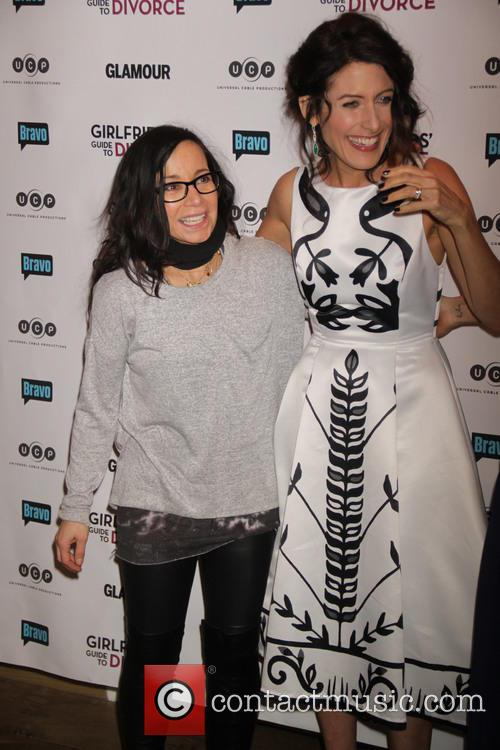 Janeane Garofalo and Lisa Edelstein