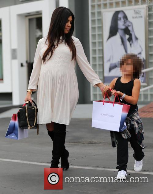 Kourtney Kardashian and Mason Disick 8