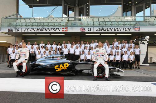 Jenson Button and Kevin Magnussen 2
