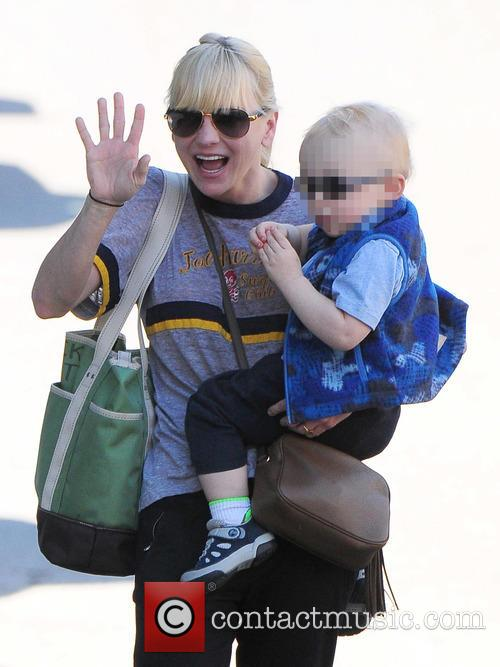 Anna Faris spotted out with her son Jack...