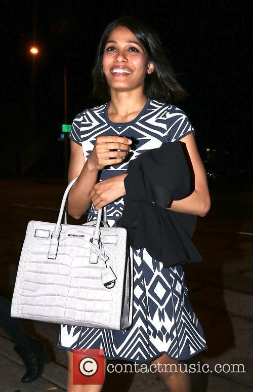 'Slumdog Millionaire' actress Freida Pinto arrives at Craig's...