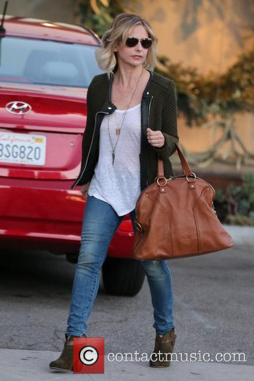 Sarah Michelle Gellar leaves the Andy LeCompte Salon