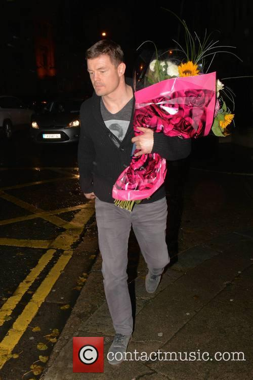 Brian O'Driscoll leaving The National Maternity Hospital