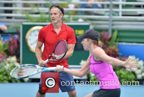 Timothy Olyphant and Chris Evert 2