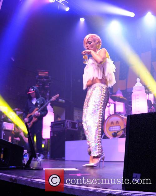Lily Allen performs at O2 Academy in Glasgow