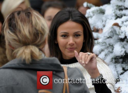 Michelle Keegan arrives at Touchwood Shopping Centre to...