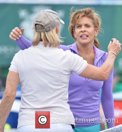 Martina Navratilova and Hoda Kotb 6
