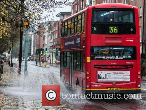 Heavy rain hits London