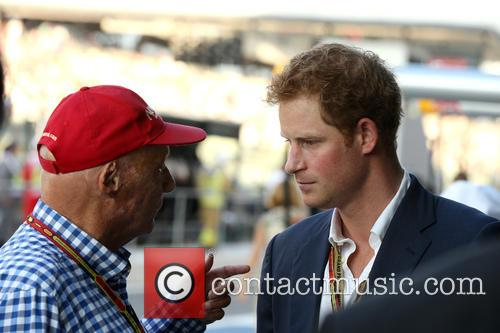 Prince Harry Of Wales and Niki Lauda 2