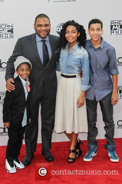 Miles Brown, Anthony Anderson, Yara Shahidi and Marcus Scribner 2